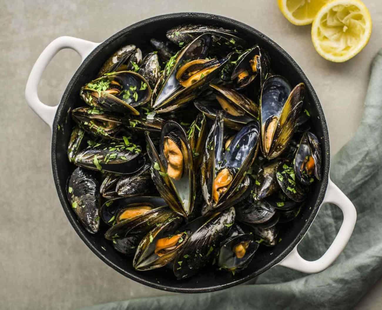Muscheln in Weißweinsoße: schnell in 35-Min