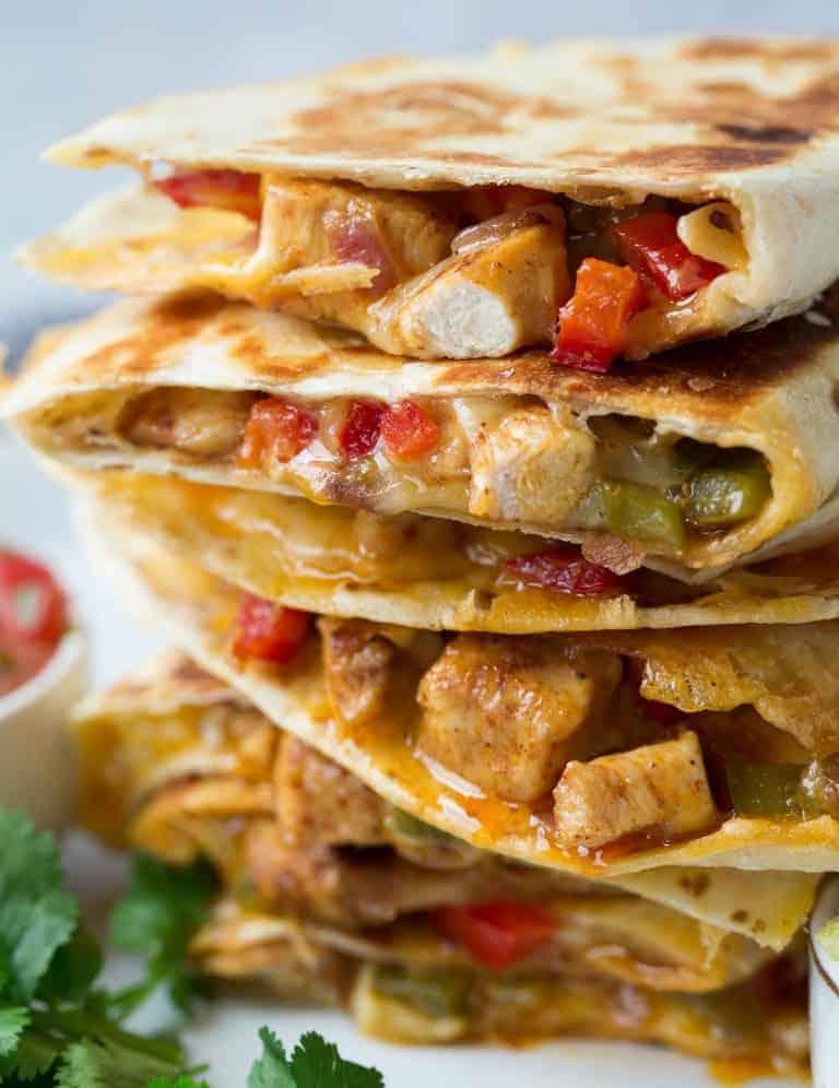 Quesadillas mit Hähnchen: simpel und lecker
