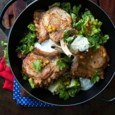 Kotelett italienisches Rezept mit Maissalat