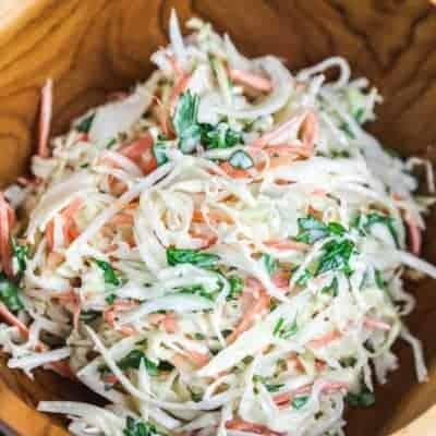Salat mit Rettich und Karotte