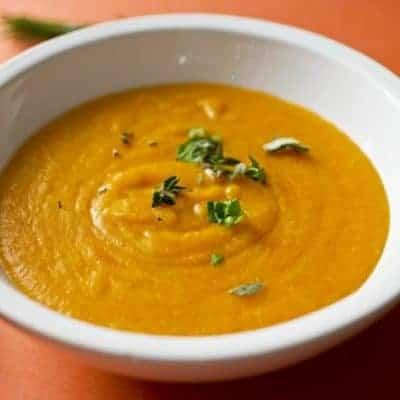 cremige Karottensuppe mit Kartoffeln