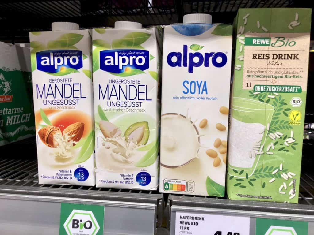 vegane Milchersatzformen