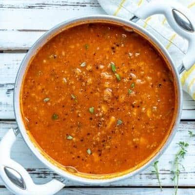 Suppe mit Fleisch, Harira