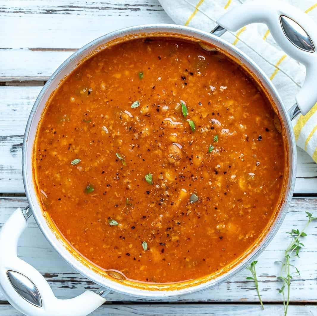 Suppe mit Fleisch – die beste Harira-Suppe