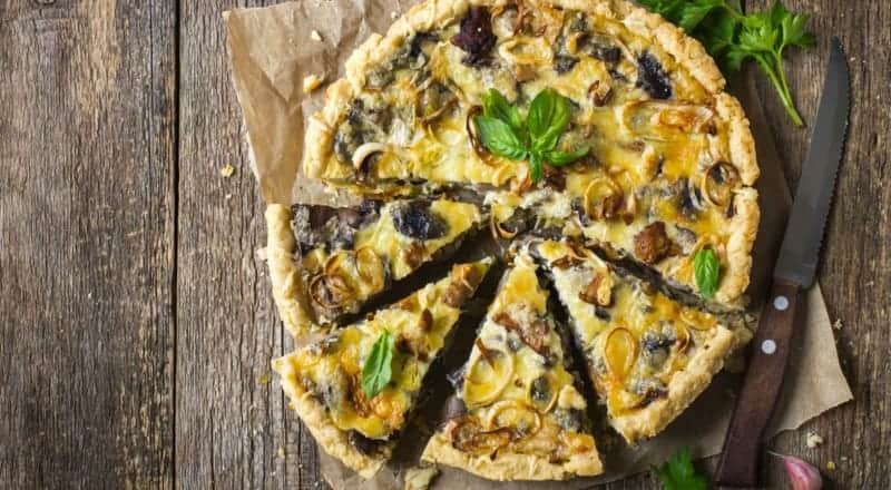 Quiche Rezept für Vegetarier mit Gemüse und Käse