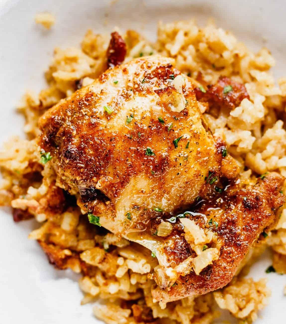 Auflauf mit Reis und Hähnchen – super lecker