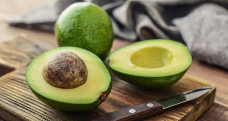 Avocado hälften