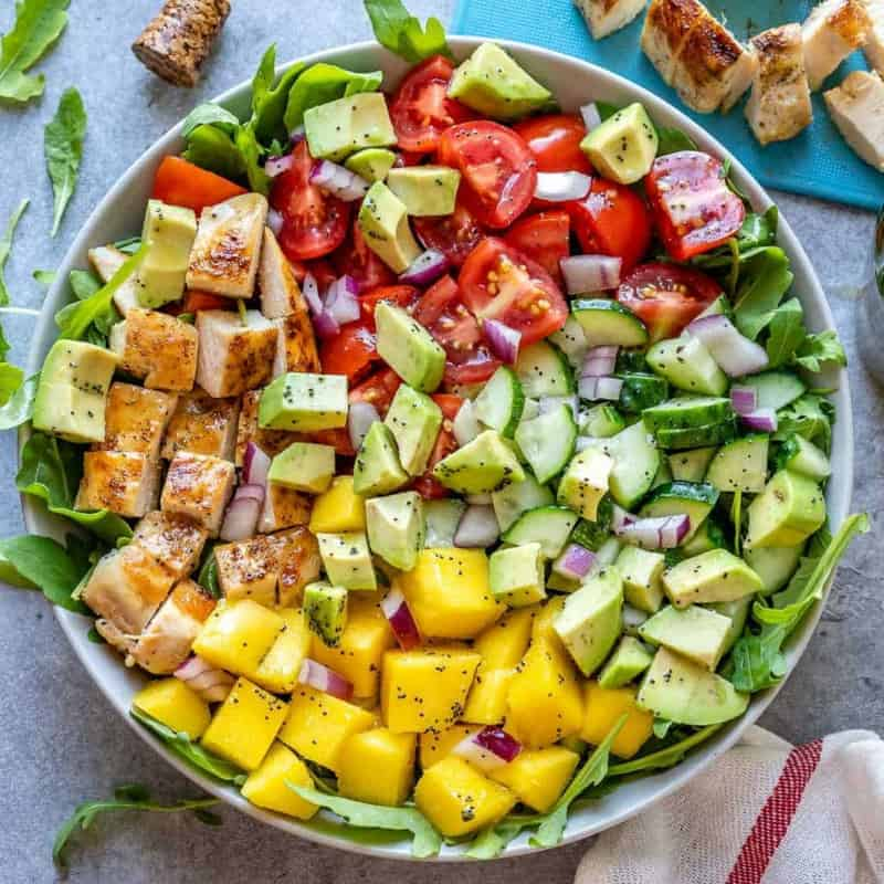 Salat mit Mango