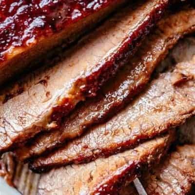 Brisket mit BBQ-Soße