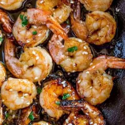 Shrimps mit Knoblauch und Honig