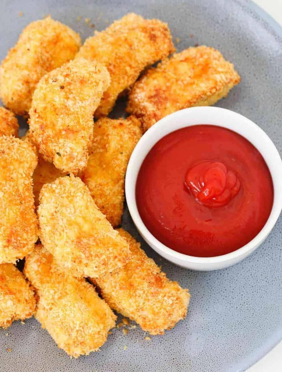 Hausgemachte Chicken Nuggets aus dem Backoffen