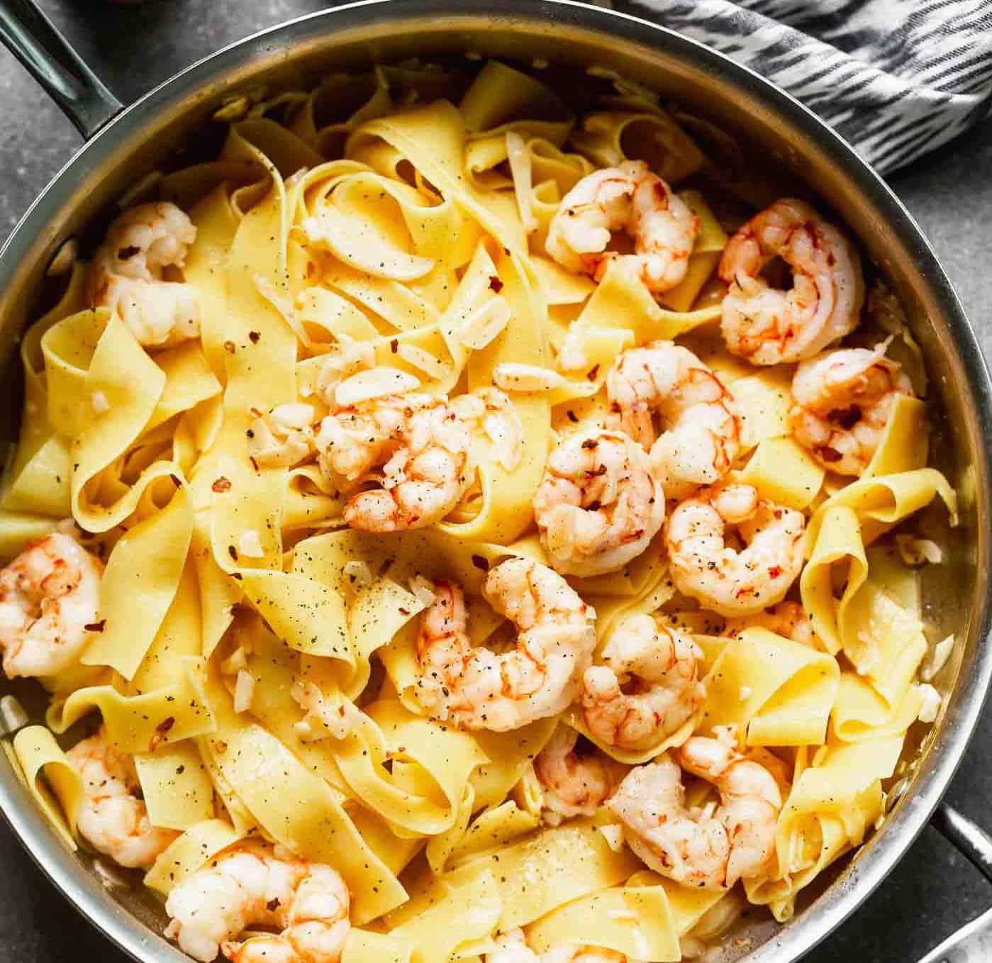 Pappardelle mit Shrimps