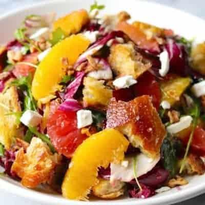 Radicchio Salat mit Zitrusfrüchten