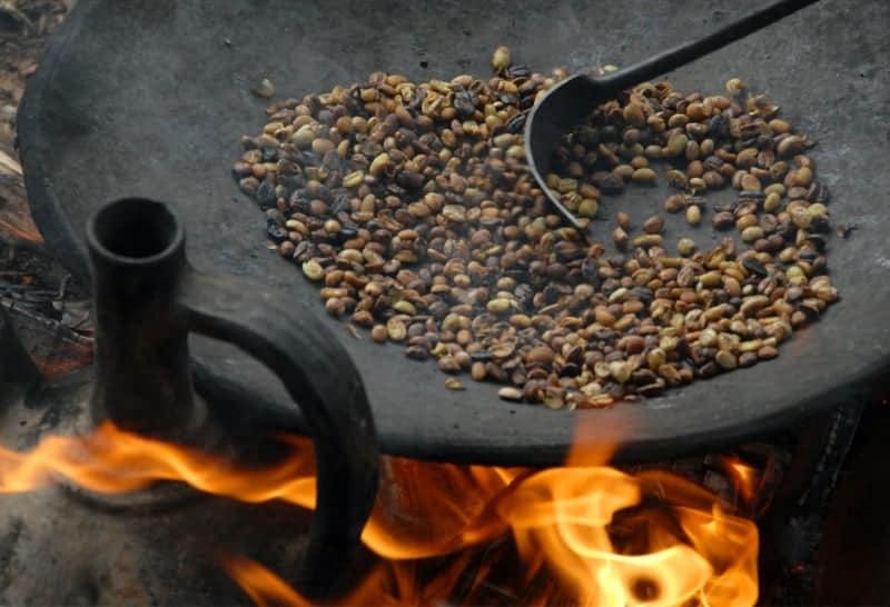 Kaffeebohnen anrösten aromatich