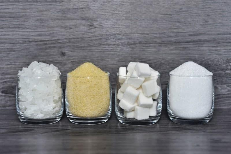 Zucker verschiedene Sorten