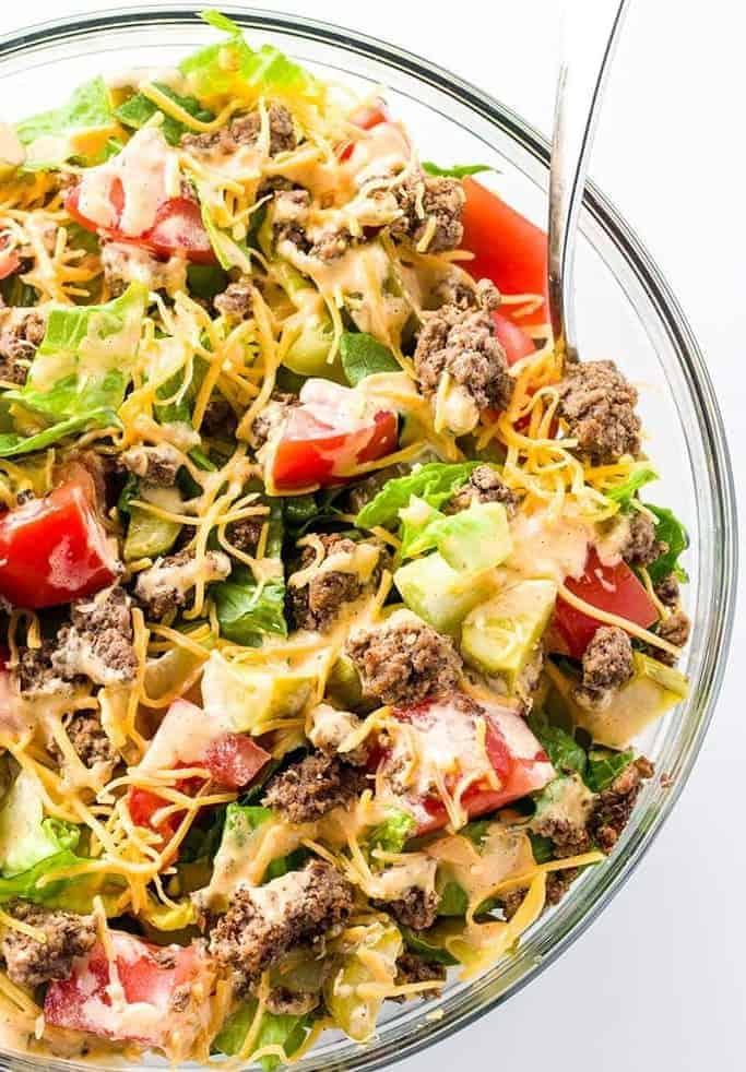 Big Mac Salat – beste Fast Food Alternative