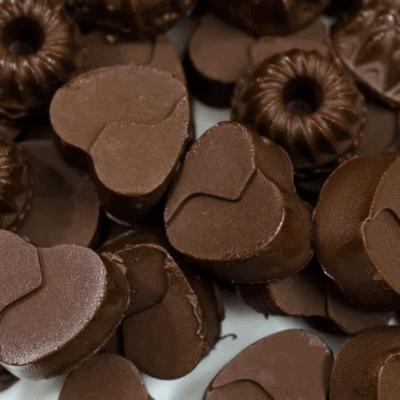 Pralinen aus Kakaobutter