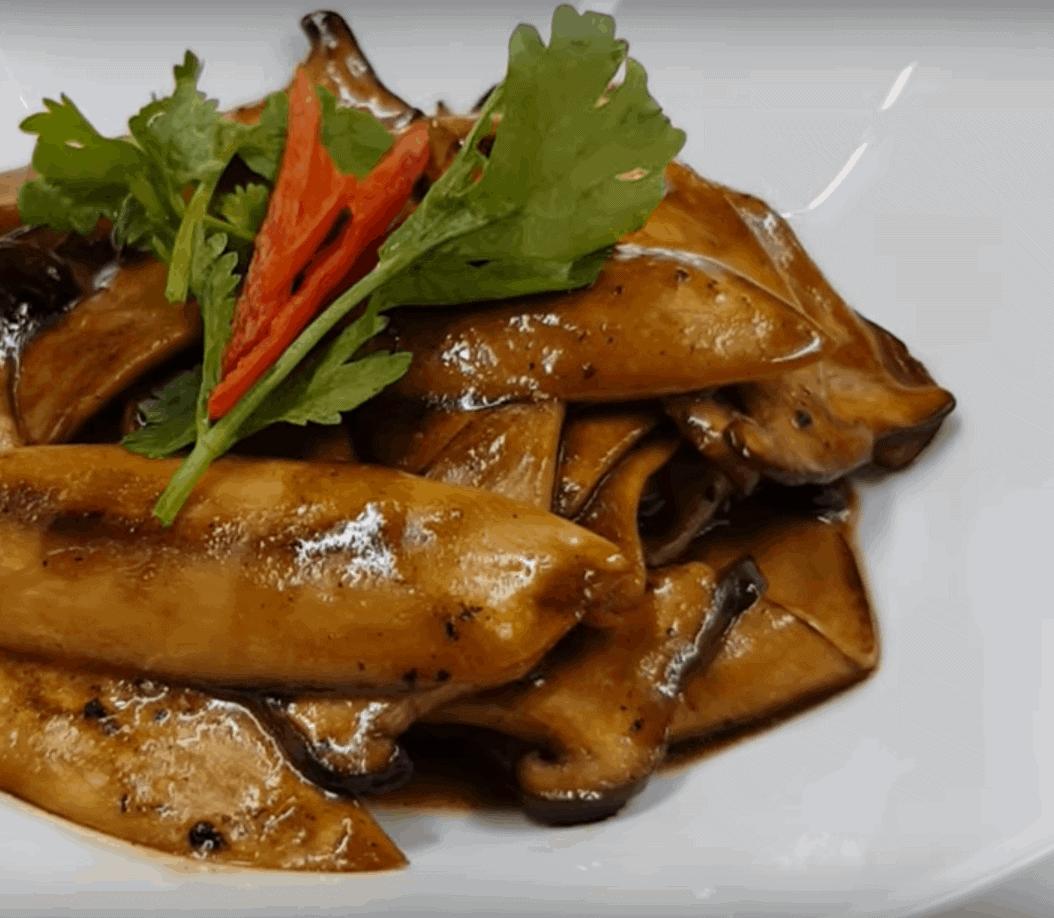 Austernpilze in Teriyakisoße: super leicht