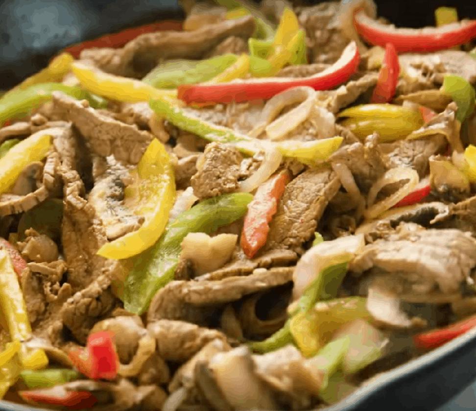 Fajita aus Rindfleisch: beste 6 Portionen