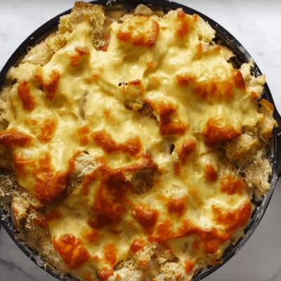 Pie mit Pute, fertig gebacken