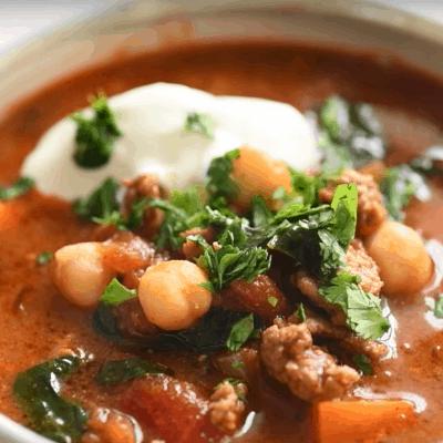 Kichererbsen Rezepte, Suppe servieren