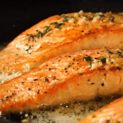 Schnelles Abendessen, Lachs mit Butter
